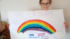 Phoebe with NHS rainbow