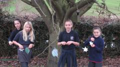 Tree decorating forest school