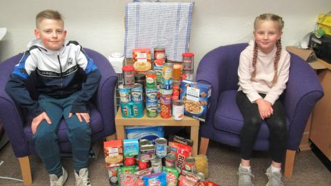 Harvest donation and non-uniform for Macmillan